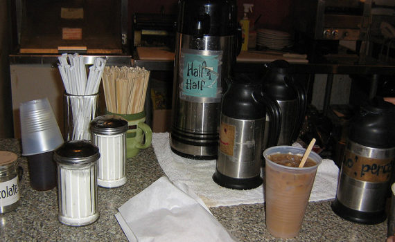 Check with your coffee delivery service about supplies